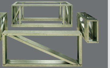 Steel frame for gas fireplace