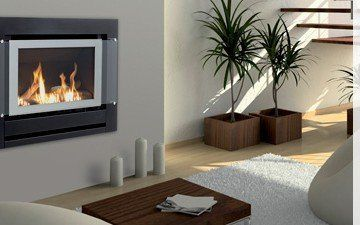 Indoor gas fireplace for residential purpose