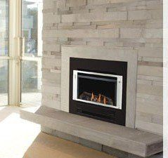 Compact gas fireplace for home