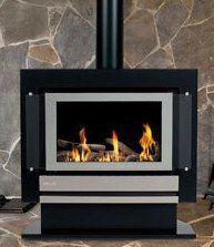 Modern indoor gas fireplace