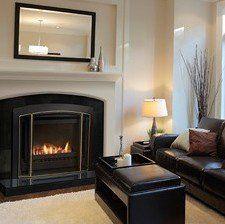 Premium classic indoor gas fireplace