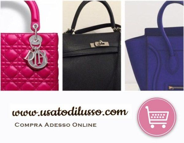 shopping on line; 3 borse: una rosa, una nera e una blu