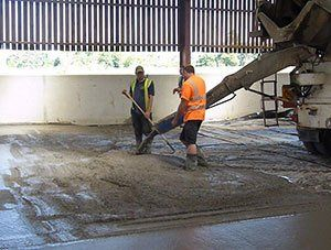 concrete laying