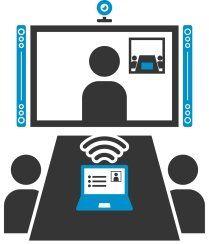Icon für Konferenzraumtechnik
