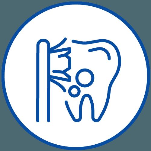 icona dente con spazzolino