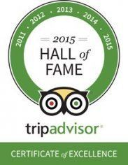 Tripadvisor 2015 hall of Fame
