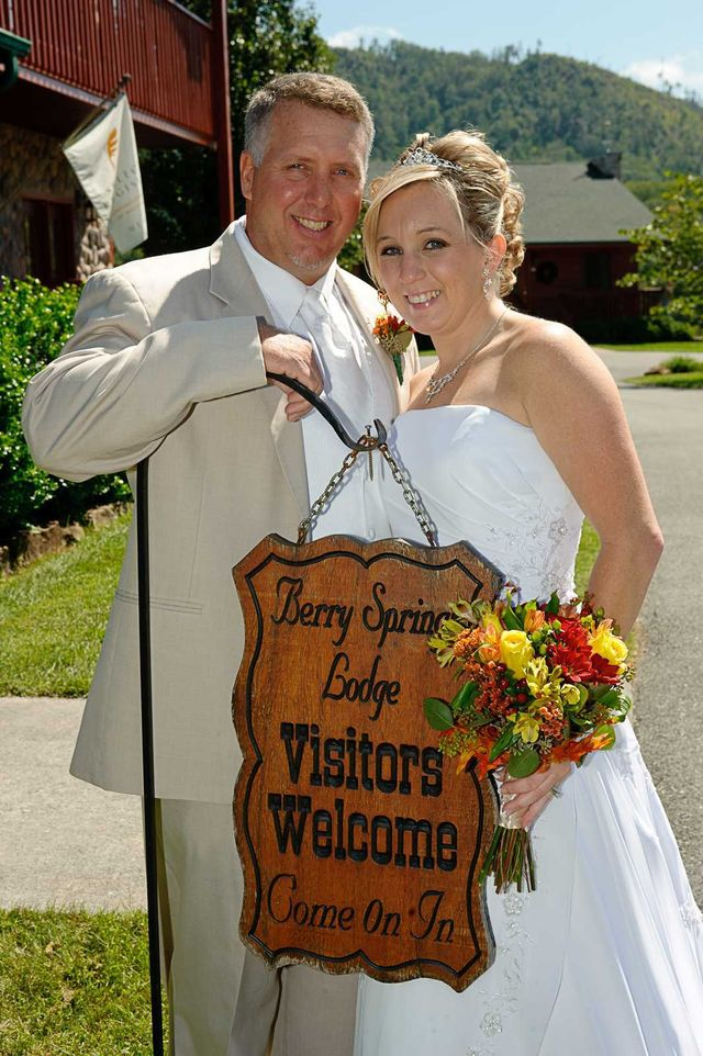 Just married at Berry Springs Wedding near Gatlinburg TN