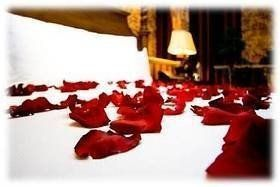 romantic rose-petal turn down service