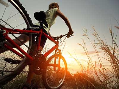 mountain bike in campagna