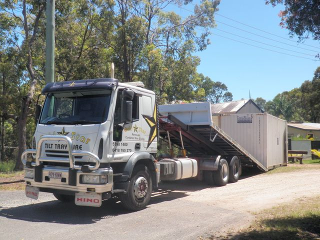 Tilt Tray Moving Storage Containers Gold Coast