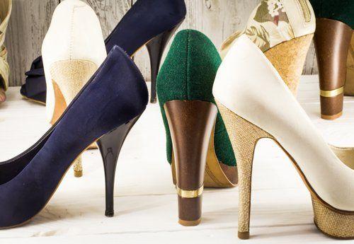 tre calzature donna con tacco