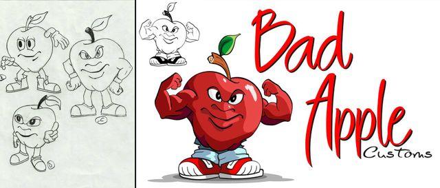 Bad Apple logo design