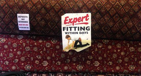 Expert carpet fitting