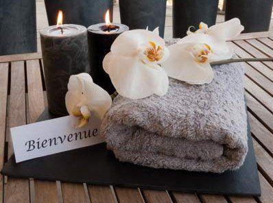 Aromatici Candele e asciugamani in cotone