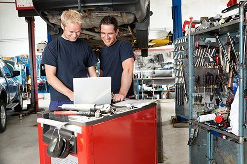 Diagnostic equipment used by mechanics for maintenance of cars