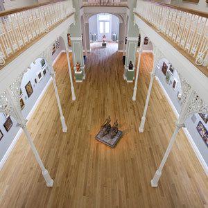 wooden floor in art gallery