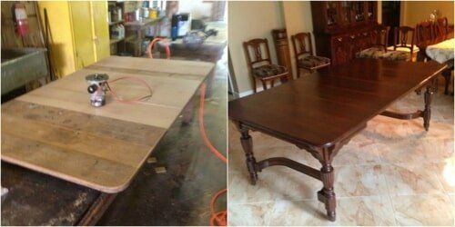 Brown Table U2014 Furniture Restoration Services Little Rock In Benton, AR