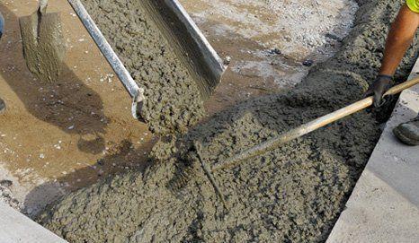 Small loads of concrete