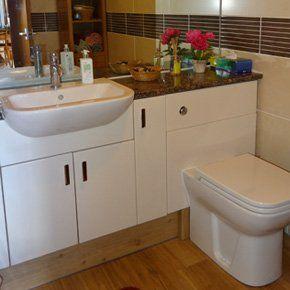 New white bathroom suite