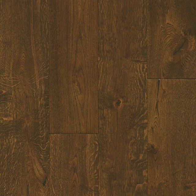 White Oak Engineered Hardwood Deep Etched Hampton Brown Eaktb75l408