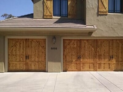 Garage With Wooden Door   Custom Garage Doors In Orangevale, CA