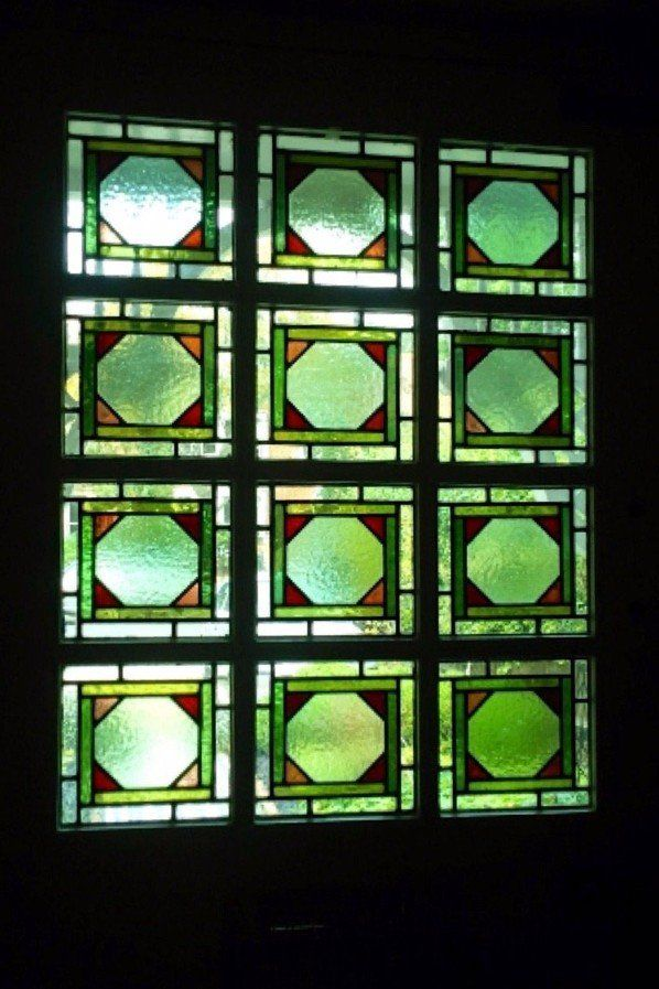 Green coloured glass