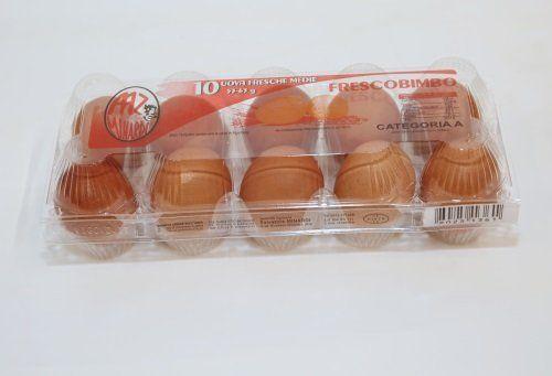 Confezione da 10 uova, trasparente