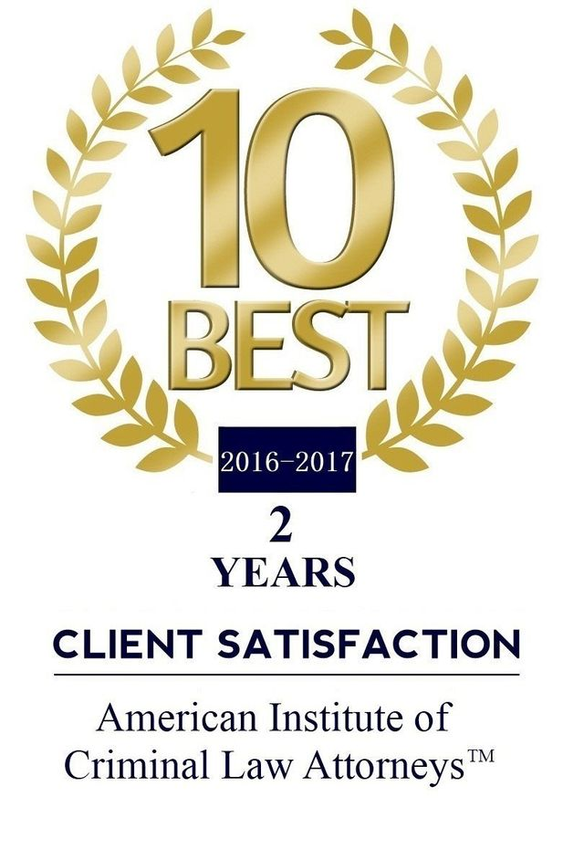 2016 10 Best Client Satisfaction - American Institution of Criminal Law Attorneys