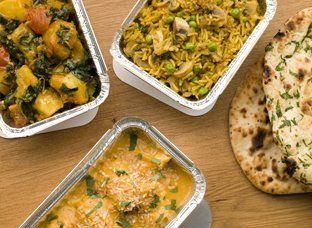 Indian bread with mouth-watering accompaniments