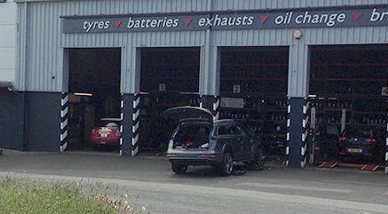 vehicles in garage