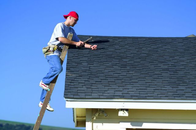 One of our roofers at work in Mountain Home, AR