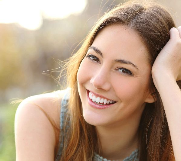woman with dental veneers - Greensboro, NC - A.K. Dr. Sharda, DMD