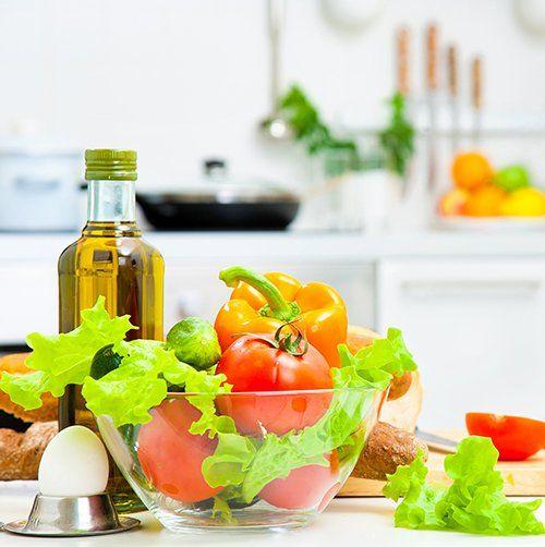 verdura e olio di oliva