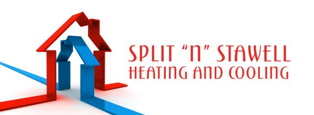 split n stawell heating and colling business logo