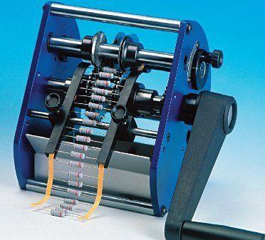 Macchina taglia e piega manuale componenti assiali