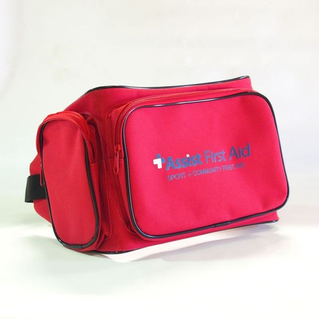 Front view of a bum first aid bag