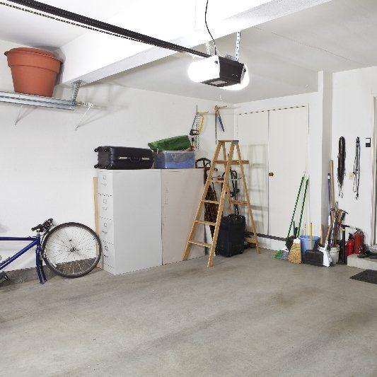 Interior of home garage with electrical door from Bob's Garage Door service