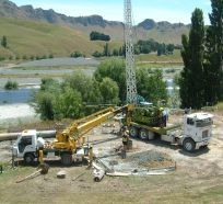 Drilling services at a remote location in Hawkes Bay