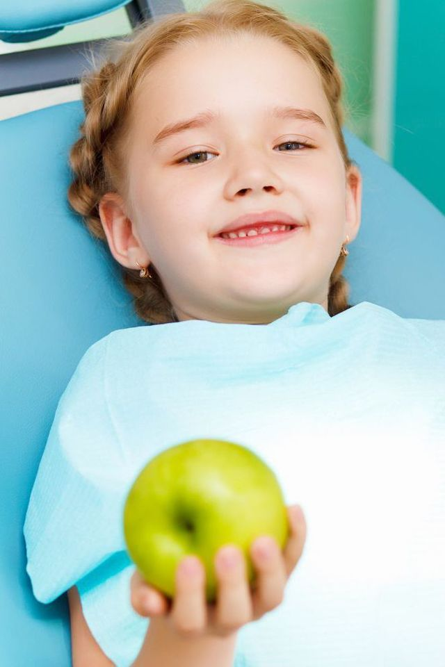 Young girl at our dental practice in Tauranga
