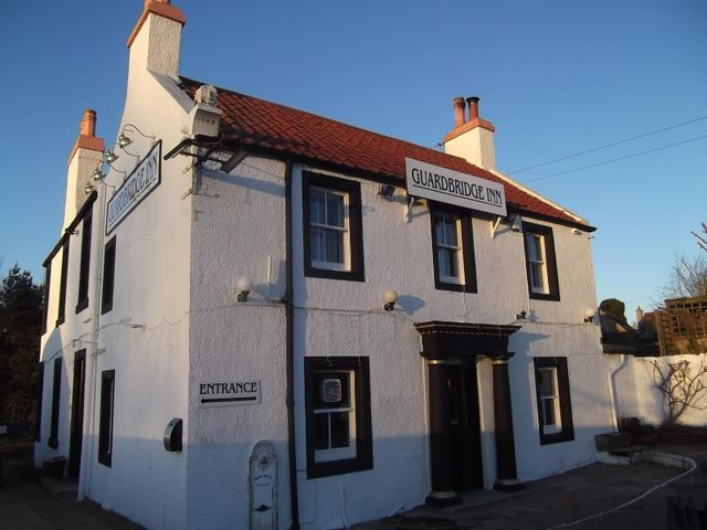 A front view of our inn in St Andrews