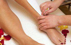 leg waxing