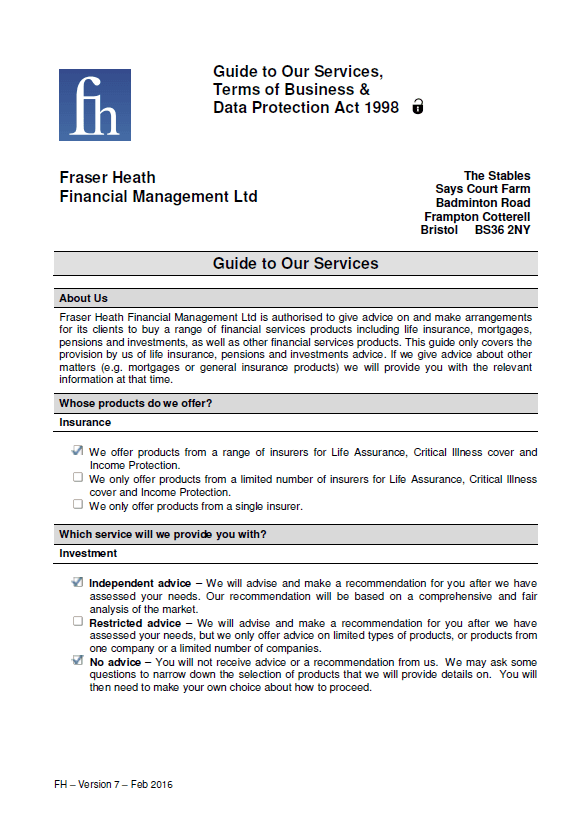 Downloads Fraser Heath Independent Financial Advisors