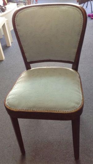 Cream velvet dining chair with wood frame