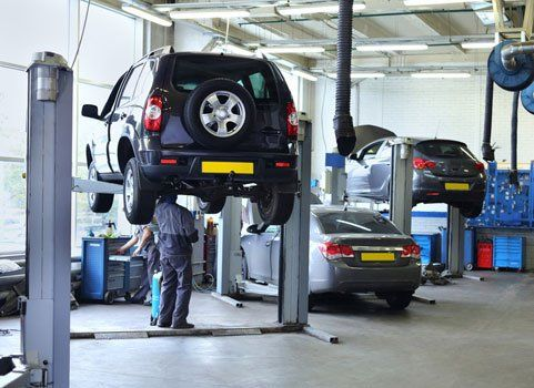 cars at the MOT centre
