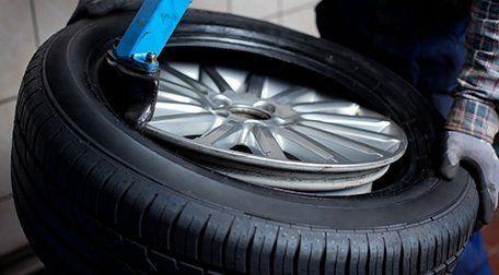 Tyre repair work