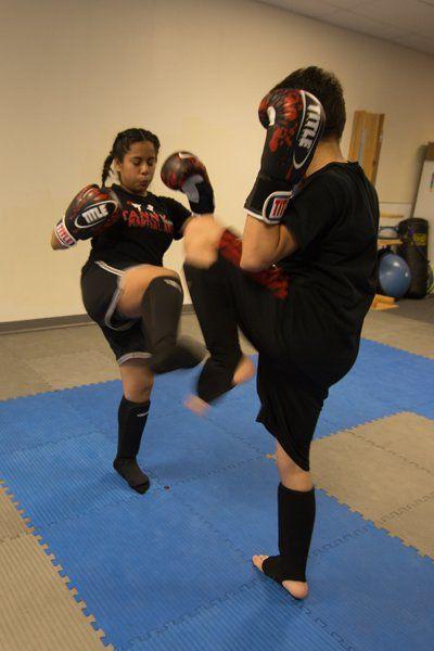 Combat Kickboxing Class drill
