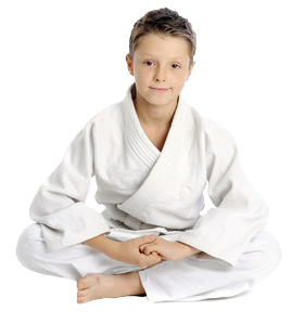 Martial Arts boy sitting