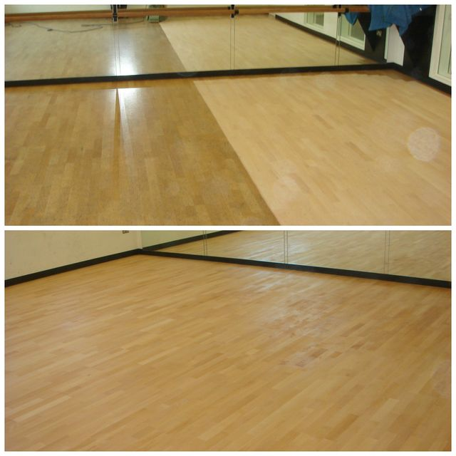 before and after wood floor renovation