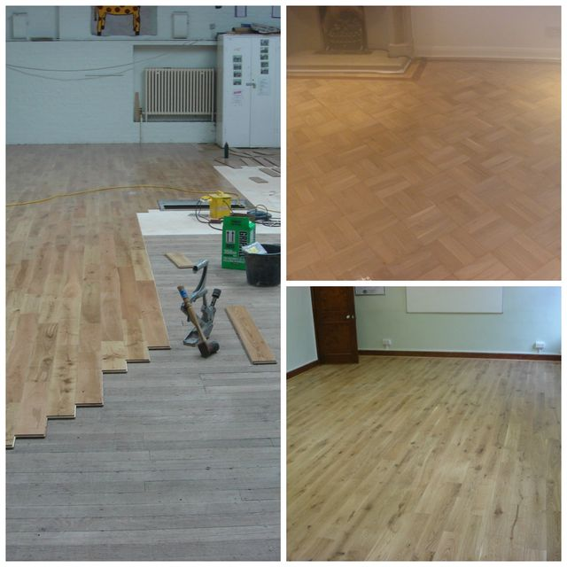 hardwood flooring laid over existing floor