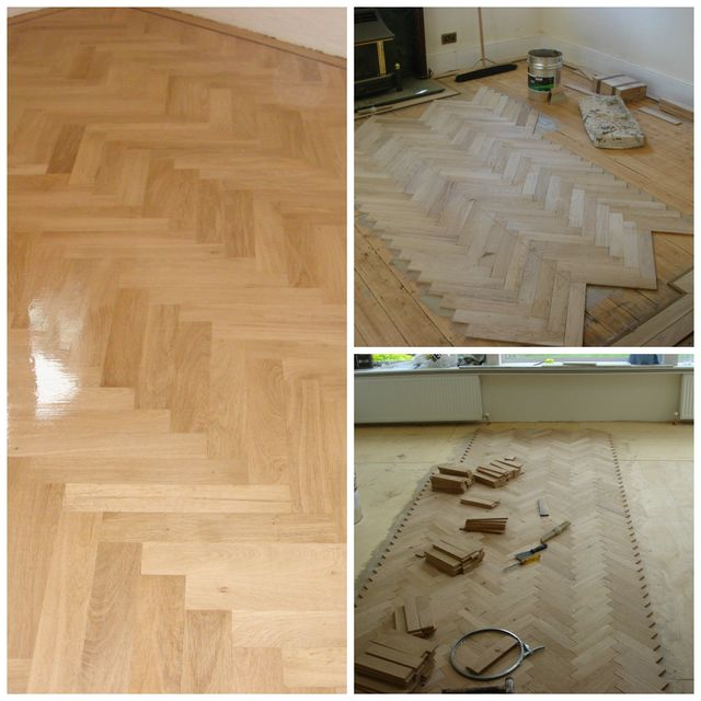 refurbshing and re-laying a parquet floor